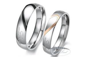 """Парные кольца для влюбленных из нержавеющей медицинской стали """"Соединение Сердец"""""""