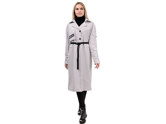 продам Плащ женский «Конти» A.G. 295 «Конти» светло-серый 48 бу в Киеве