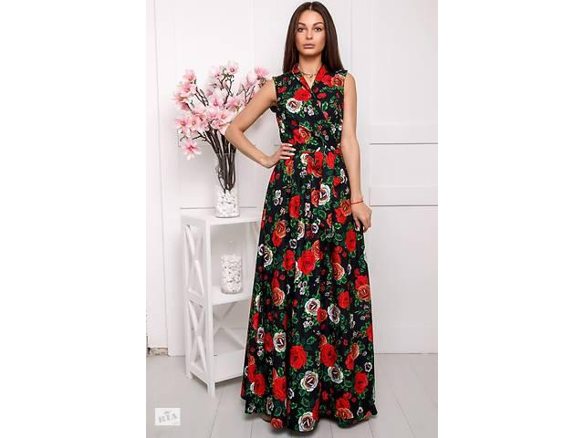 4eab00d1817b95 Платье летнее Валери 2 цветы, (2 цв), длинное платье, летнее платье ...