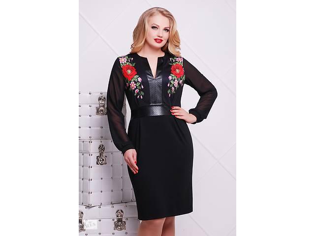 продам Сукня великого розміру з шифоновими рукавами та вишивкою в  українському стилі бу в Одесі 4a3fe1b2ff041