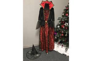 Платье и шляпа ведьмочка до 11 лет