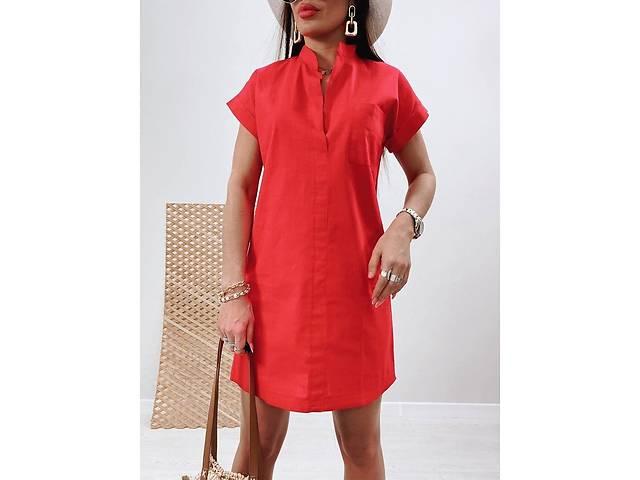 купить бу Платье из льна в четырех цветах в Стрые