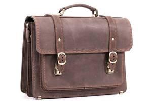 Портфель кожаный мужской Manufatto, коричневый