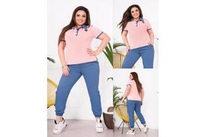 Повседневный женский костюм футболка и штаны SKL11-293803
