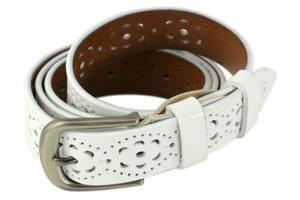 Пояс кожаный TRAUM 8825-06, женский, белый