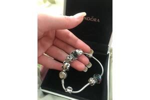 Продам браслет Pandora orig (пандора)  8 шармов