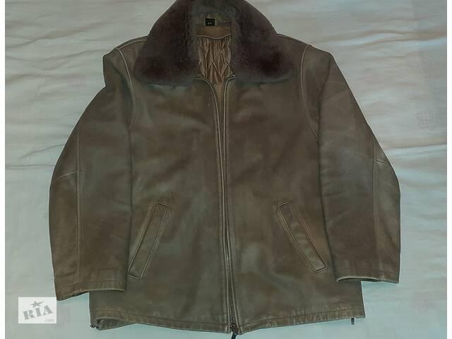 Продам отличную кожаную куртку с дополнительной подстёжкой и меховым   воротником.- объявление о продаже  в Борисполе