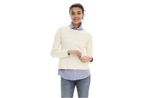 """Пуловер с кружевной отделкой белый новый """"Banana Republic"""" размер М/M состав 100% cotton"""