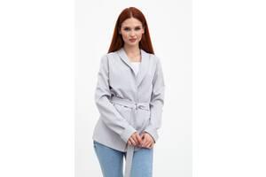 Пиджак женский 115R363-8 цвет Светло-серый