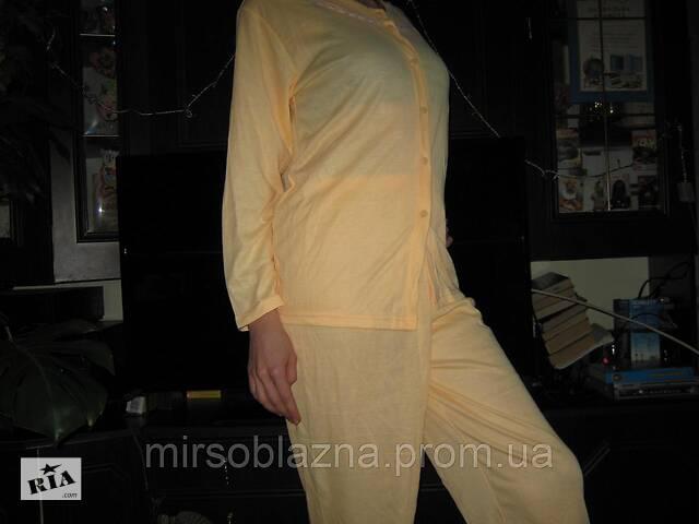 продам Пижама женская желтая и розовая 100% хлопок размер ХХL (50-52) на пуговицах бу в Каменском (Днепродзержинск)