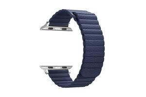 Ремешок Armorstandart Leather Loop для Apple Watch All Series 38/40 mm Blue (ARM51669)