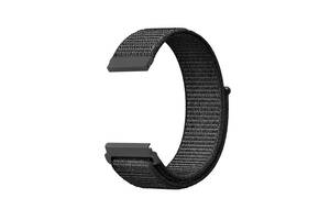 Ремешок для часов Nylon loop bracelet Universal, 20 мм. Dark gray