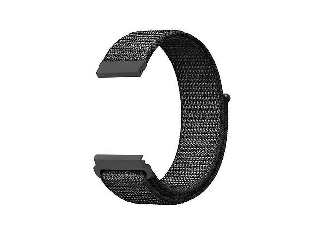 бу Ремешок для часов Nylon loop bracelet Universal, 22 мм. Dark gray в Запорожье