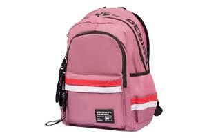 Рюкзак школьный подростковый YES Maybe Розовый (558746)