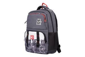 Рюкзак школьный подростковый YES SubSurf. Black and White Серый (558567)