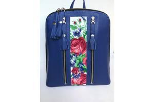 Рюкзак жіночий,шкіряний рюкзак,міський рюкзак,рюкзак з вишивкою,рюкзак шкіряний з вишивкою,сумка рюкзак