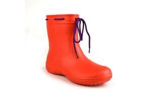 Сапоги женские резиновые EVA Jose Amorales с шнуровкой 38 р Красный (joa_119220_3)