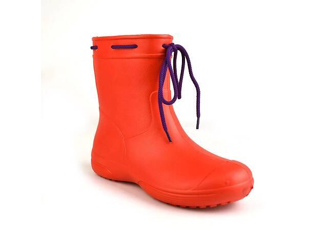 купить бу Сапоги женские резиновые EVA Jose Amorales с шнуровкой 38 р Красный (joa_119220_3) в Киеве