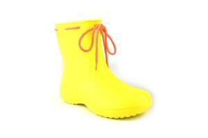 Сапоги женские резиновые EVA Jose Amorales с шнуровкой 40 р Желтый (joa_119210_5)