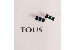 Серьги TOUS Mini Onix из серебра со вставками оникса