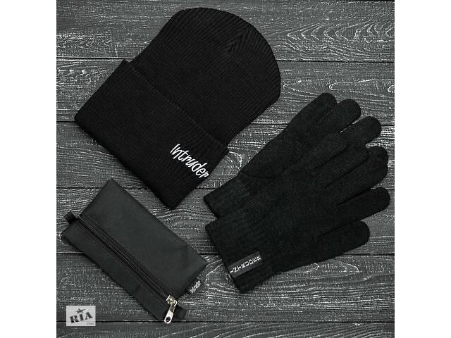 продам Шапка черная зимняя small logo и перчатки черные зимний комплект и Подарок SKL59-283394 бу в Харькове