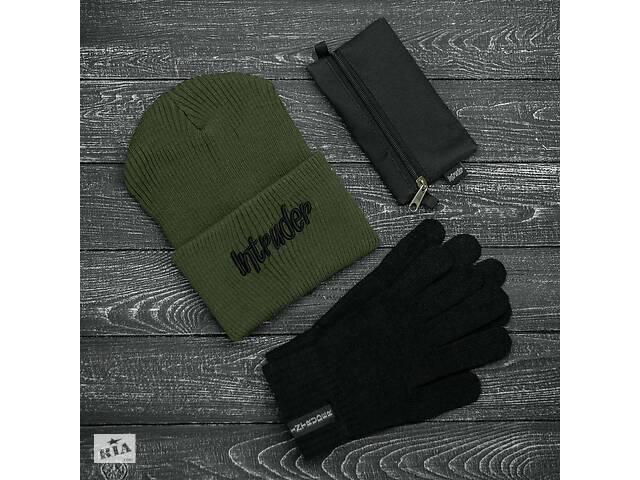 продам Шапка хаки зимняя big logo и перчатки черные зимний комплект и Подарок SKL59-283390 бу в Харькове