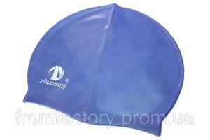 Шапочка для плавания (силиконовая):Синий