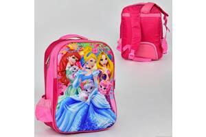 Школьный ранец принцессы золушка, русалочка ариеэль, рапунцель, объемный рисунок