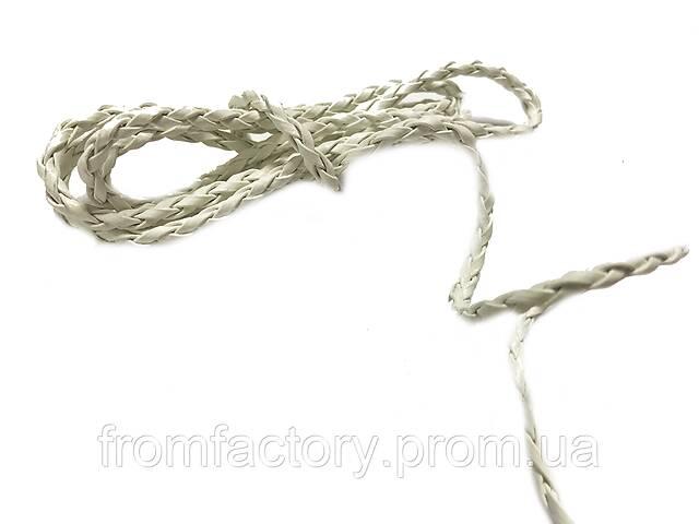 продам Шнур/Ремень для бижутерии  из кож.зама. плетеный (Белый/1м/5мм) бу в Харкові