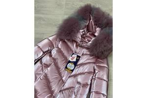 Шикарне пальто перловий оксамит