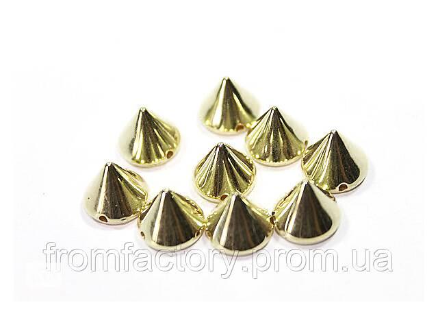 продам Шипы керамические для одежды пришивные (Золотые/10мм/20шт) бу в Харкові