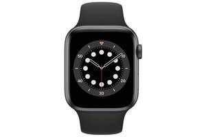 Смарт-часы Apple Watch Series 6 GPS 44mm Space Gray Aluminium Case with Black Sport Band Regular