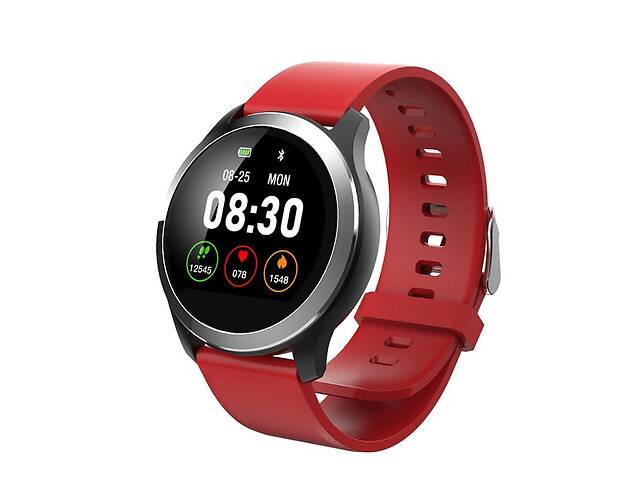 Смарт-часы BFY Z03 Pro PPG + ЭКГ кровяное давление пульсометр Silver Red (110074R)- объявление о продаже  в Киеве