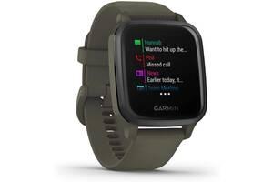 Спортивные часы Garmin Venu Sq Music Edition темно-зеленые