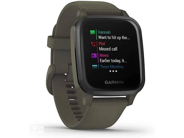 купить бу Спортивные часы Garmin Venu Sq Music Edition темно-зеленые в Полтаве