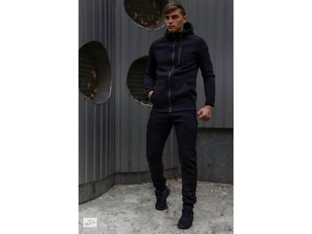 продам Спортивный костюм мужской черный утепленный флисоми и ключница в подарок SKL59-283358 бу в Киеве