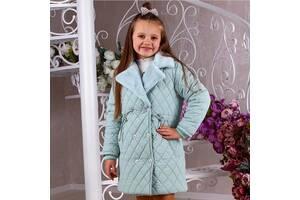 Стильное стеганное пальто