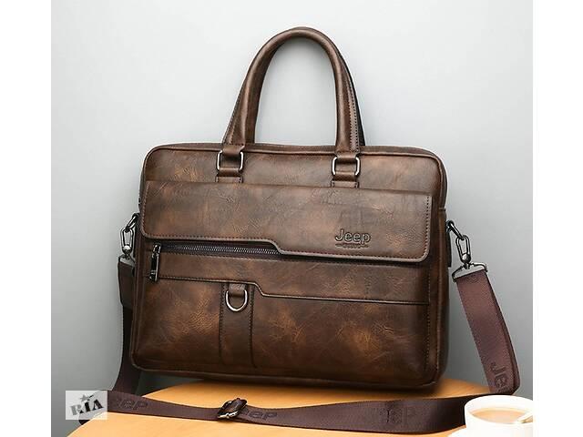 бу Стильный мужской деловой портфель для документов формат А4 мужская сумка для планшета ноутбука Темно-коричневый в Днепре (Днепропетровск)