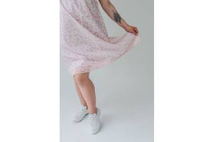 Платье для беременных белого цвета с цветами - Барселона