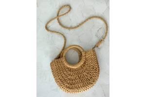 Сумка плетена/соломяна сумка для дівчат/жінок