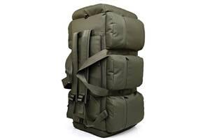 Сумка-рюкзак тактическая Kronos xs-90l3 олива, 90 л