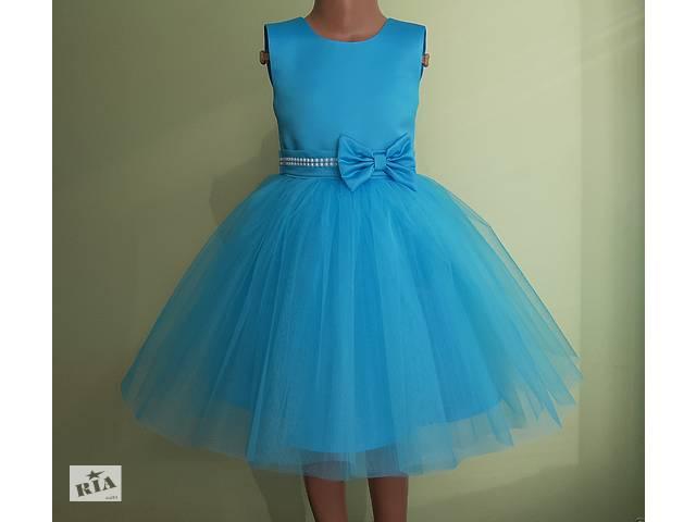 продам Праздничная детская платье голубого цвета, модель № 109 бу в Хмельницком