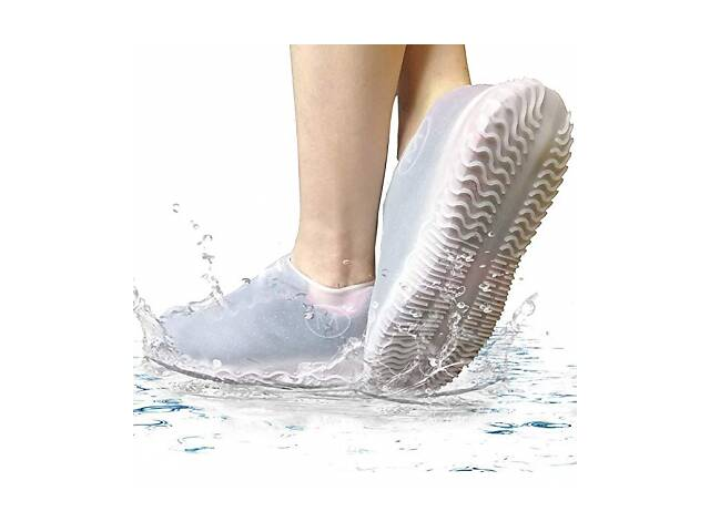 Силиконовые водонепроницаемые бахилы Чехлы на обувь WSS1 L White 42-45р SKL25-223359- объявление о продаже  в Одессе