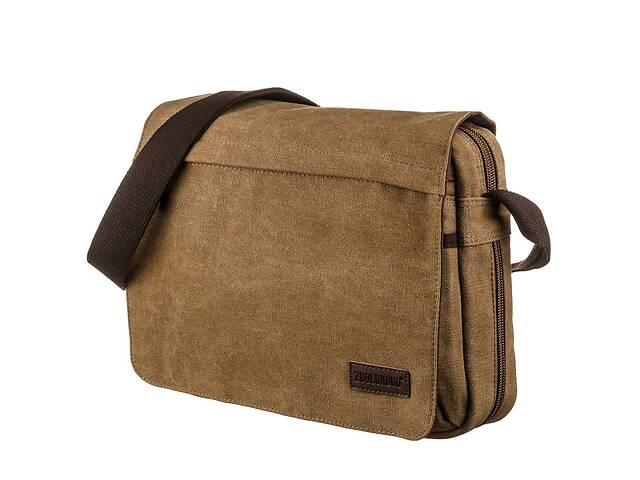 продам Текстильная сумка для ноутбука 13 дюймов через плечо Vintage  Коричневая Vntg20190 бу в Киеве