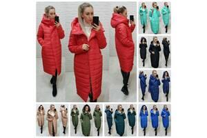 Тёплая женская зимняя куртка по фигуре хорошо простроченная на силиконе 10 цветов