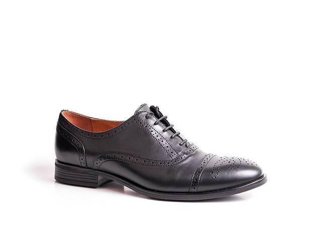 Туфлі броги ІКОС чорні- объявление о продаже  в Тернополе