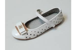 Туфли белые для девочки 30-34 размер.