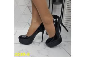 Туфли черные на шпильке с платформой 36-40р