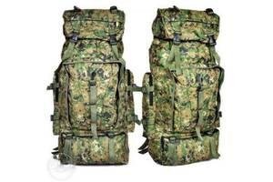 Туристичний, військовий, похідний, кемпінговий, рибальський, рюкзак на 75 літрів, комуфляжний