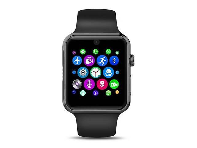 купить бу Умные часы Lemfo LF07 (DM09) со слотом под SIM карту Черный в Киеве